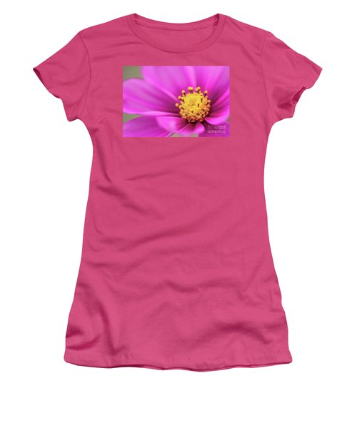 Women's T-Shirt (Junior Cut) featuring the photograph Cosmos Pink Sensation by Sharon Mau