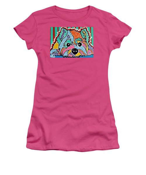 Cotton Candy Women's T-Shirt (Junior Cut) by Jackie Carpenter