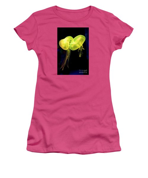 Women's T-Shirt (Junior Cut) featuring the photograph Dance Of The Jellies by Gary Bridger