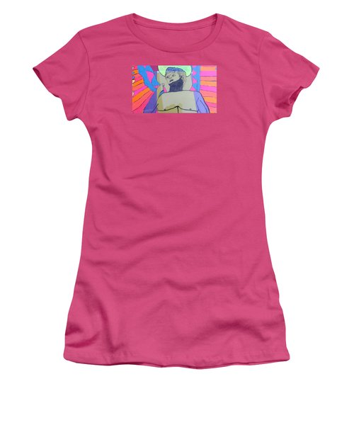 Women's T-Shirt (Junior Cut) featuring the painting David The Archangel by Don Koester