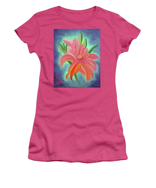 Daylily At Dusk Women's T-Shirt (Junior Cut) by Margaret Harmon