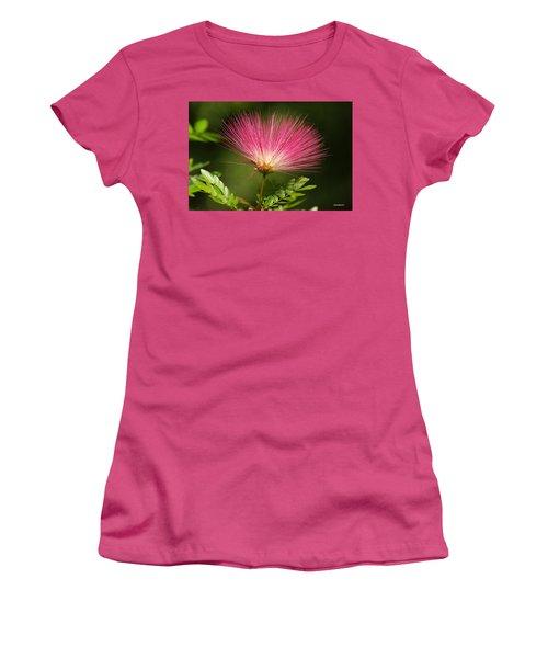 Delicate Pink Bloom Women's T-Shirt (Junior Cut) by Gary Crockett