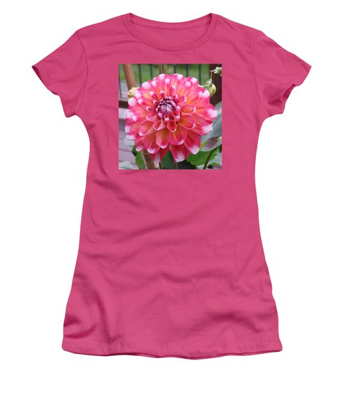 Denali Dahlia Women's T-Shirt (Junior Cut) by Karen J Shine