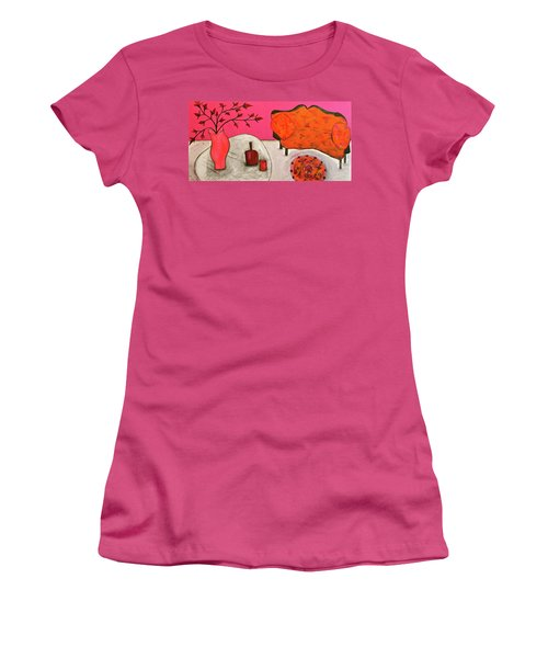 Down The Stairs Into The Living Room  By Paul Paucciarelli  Women's T-Shirt (Junior Cut)