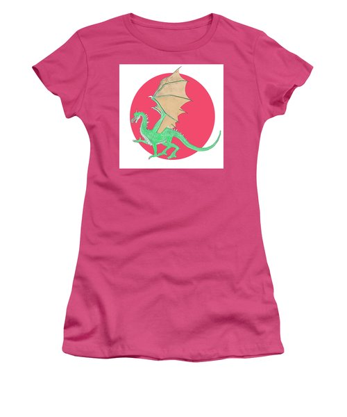 Dragon Illustration 1 Women's T-Shirt (Athletic Fit)