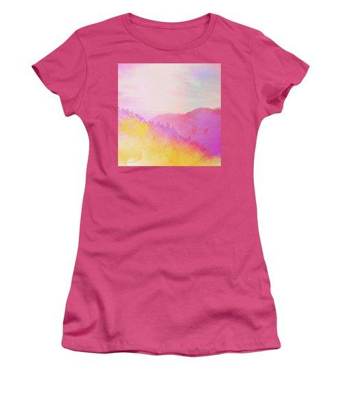 Women's T-Shirt (Junior Cut) featuring the digital art Enchanted Scenery #2 by Klara Acel