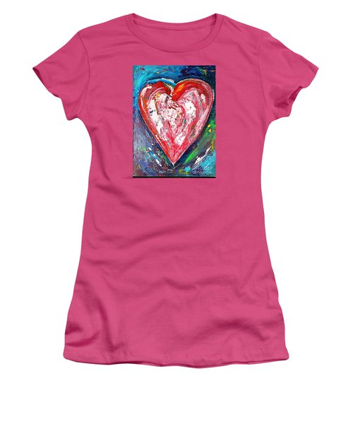 Fireworks Women's T-Shirt (Junior Cut) by Diana Bursztein