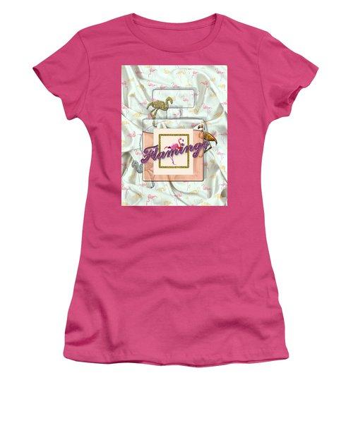 Flamingo Women's T-Shirt (Junior Cut) by La Reve Design