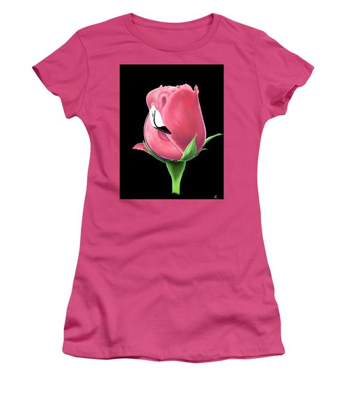Flamingo Rose Women's T-Shirt (Athletic Fit)