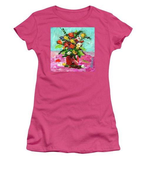 Floral Arrangement Women's T-Shirt (Junior Cut) by Janet Garcia