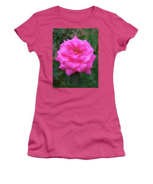 Women's T-Shirt (Athletic Fit) featuring the painting Floral Print 106 by Chris Flees