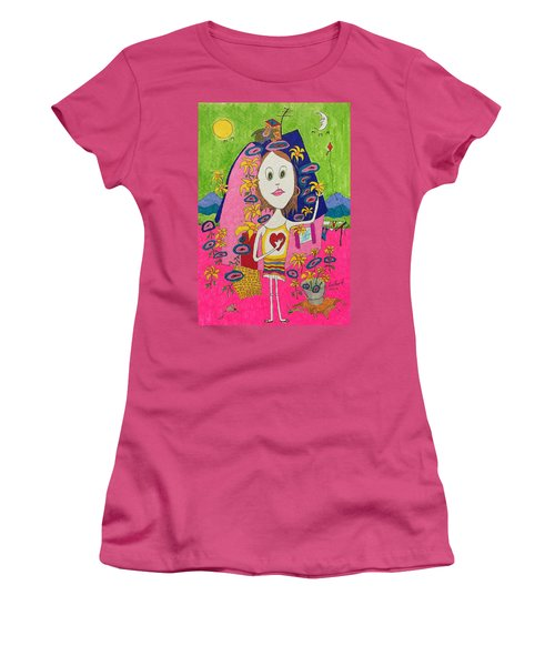 Flower Child Women's T-Shirt (Athletic Fit)