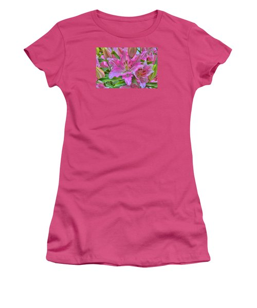 Flower Delight Women's T-Shirt (Athletic Fit)