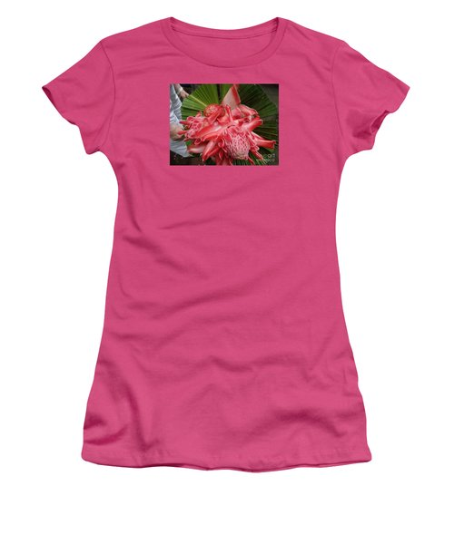 Flowering Coconiut Sao Tome Women's T-Shirt (Junior Cut) by John Potts