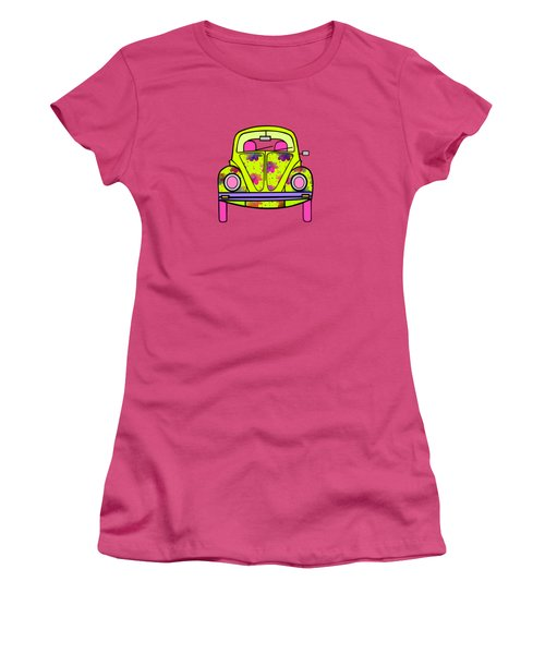 Flowers On Wheels Women's T-Shirt (Junior Cut) by Kathleen Sartoris