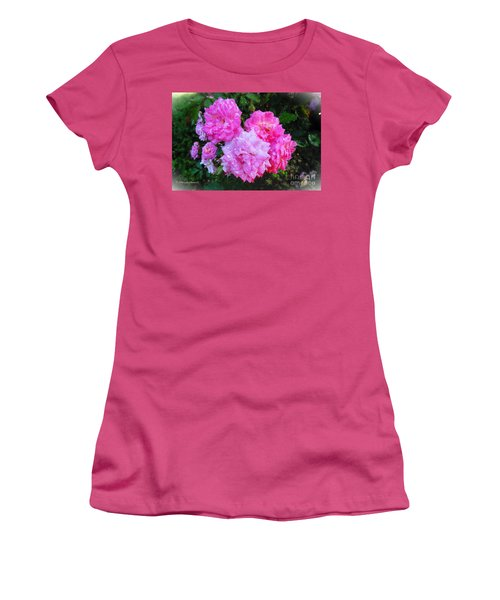 Frank's Roses Women's T-Shirt (Junior Cut) by MaryLee Parker