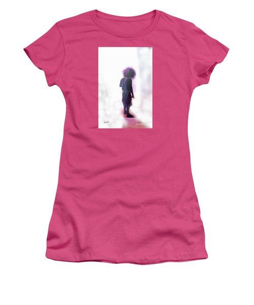 Women's T-Shirt (Junior Cut) featuring the digital art Frightdome Clown by Walter Chamberlain