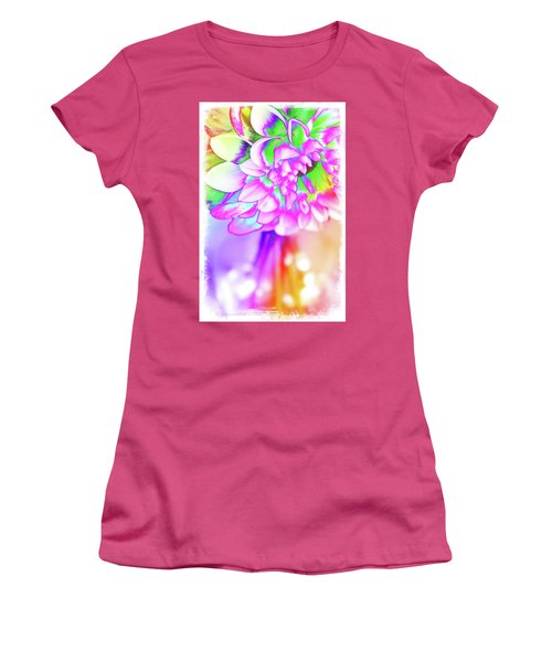 Funky Dahlia Women's T-Shirt (Athletic Fit)