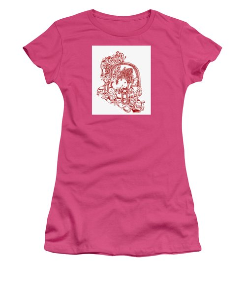 Ganesha Line Drawing Women's T-Shirt (Athletic Fit)