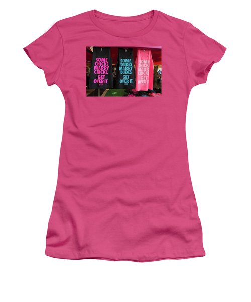 Women's T-Shirt (Junior Cut) featuring the photograph Gay Pride Amsterdam by Hans Engbers