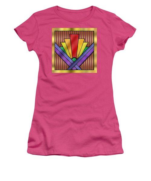Rainbow Art Deco Women's T-Shirt (Junior Cut) by Chuck Staley