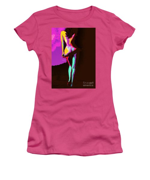 Women's T-Shirt (Athletic Fit) featuring the digital art Getting Comfortable by Rafael Salazar