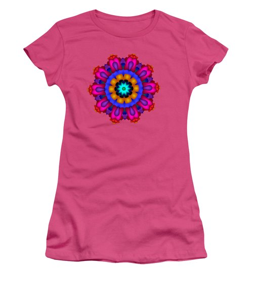Glowing Fractal Flower Women's T-Shirt (Athletic Fit)