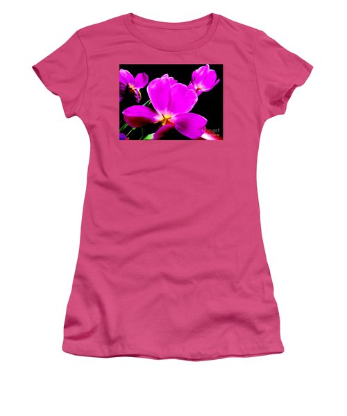 Glowing Tulips Women's T-Shirt (Athletic Fit)