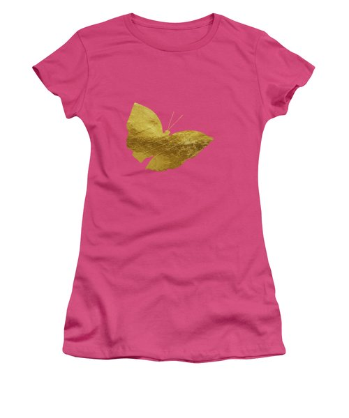 Gold Glam Butterfly Women's T-Shirt (Athletic Fit)