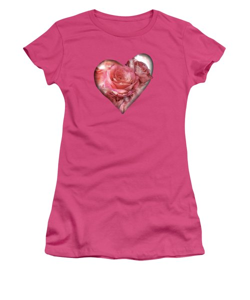 Heart Of A Rose - Melon Peach Women's T-Shirt (Athletic Fit)