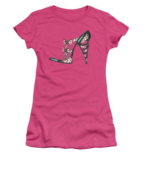 Her Shoe  Women's T-Shirt (Junior Cut) by Herb Strobino
