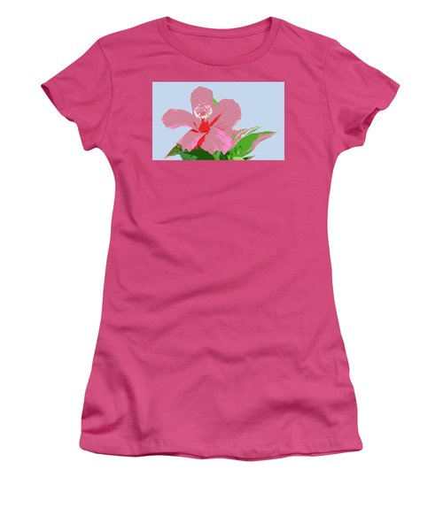 Hibiscus Flower Art - 2 Women's T-Shirt (Junior Cut) by Karen Nicholson