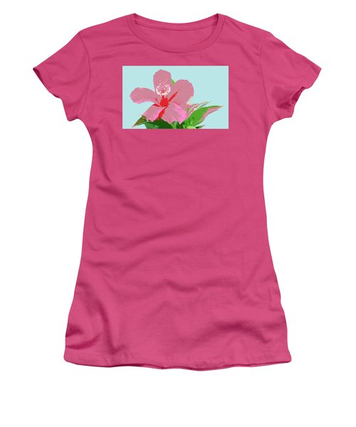 Hibiscus Flower Art - 3 Women's T-Shirt (Junior Cut) by Karen Nicholson