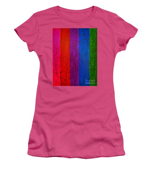 Honor The Rainbow Women's T-Shirt (Junior Cut) by Rachel Hannah