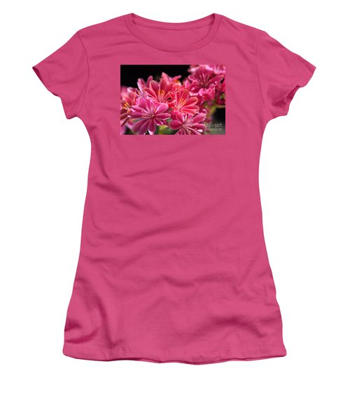 Hot Glowing Pink Delight Of Flowers Women's T-Shirt (Athletic Fit)