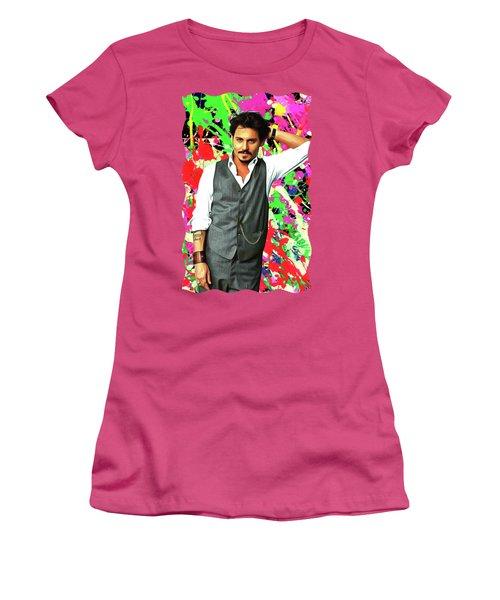 Johnny Depp - Celebrity Art Women's T-Shirt (Athletic Fit)