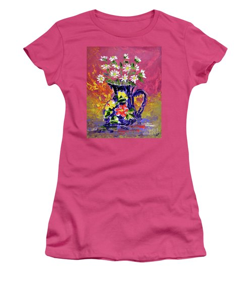Jug Of Daisies Women's T-Shirt (Athletic Fit)