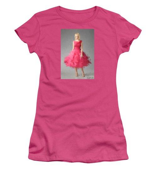 Women's T-Shirt (Athletic Fit) featuring the digital art June by Nancy Levan