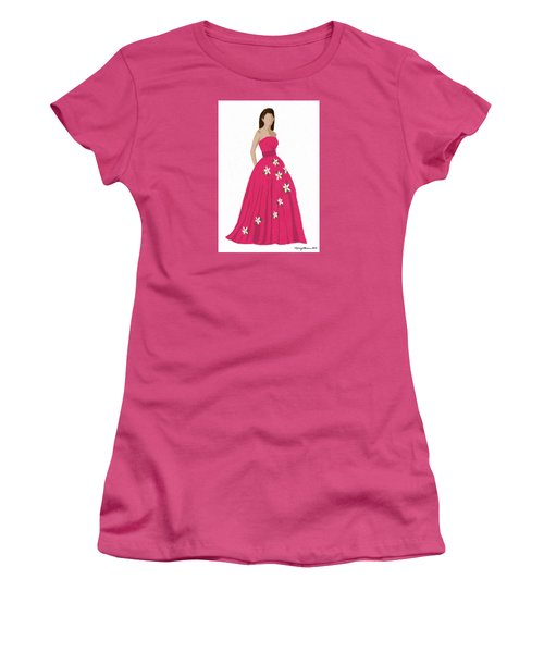 Women's T-Shirt (Junior Cut) featuring the digital art Justine by Nancy Levan