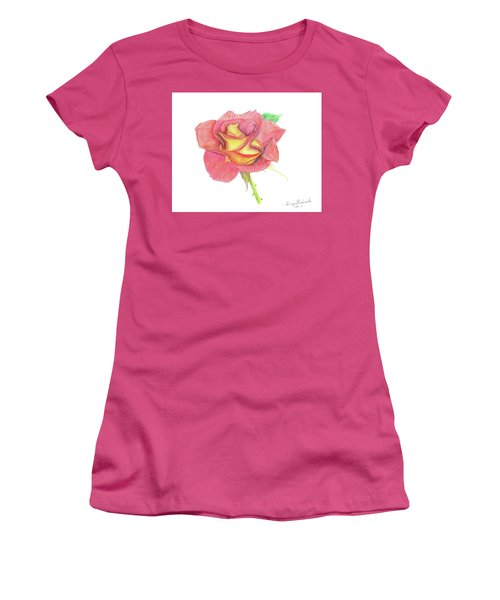 Ketchup And Mustard Rose Women's T-Shirt (Athletic Fit)