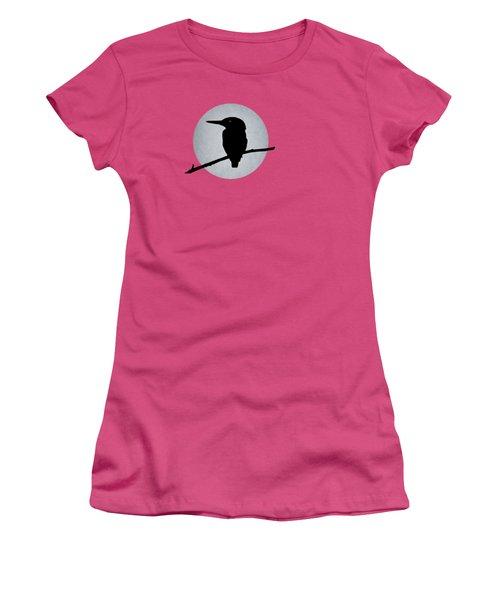 Kingfisher Women's T-Shirt (Junior Cut) by Mark Rogan