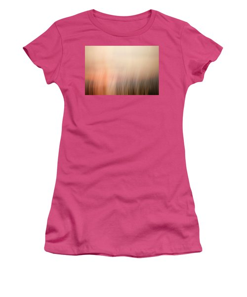 Women's T-Shirt (Junior Cut) featuring the photograph Laying Low At Sunrise by Marilyn Hunt