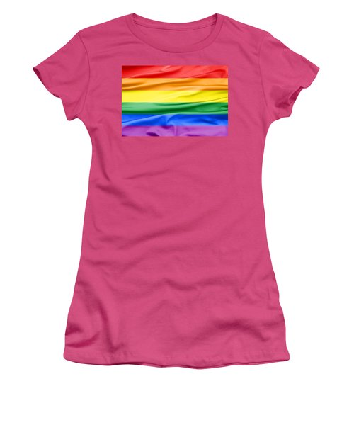 Lgbt Rainbow Flag Women's T-Shirt (Athletic Fit)