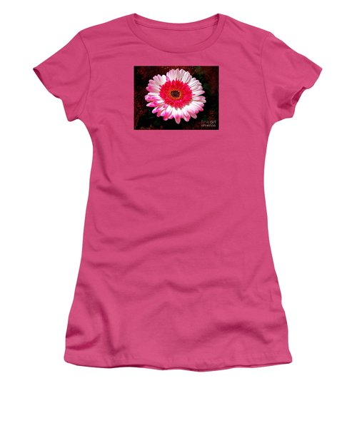 Women's T-Shirt (Junior Cut) featuring the photograph Lollipop Gerber Daisy by Patricia L Davidson
