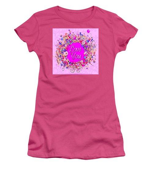 Love You Celebration Women's T-Shirt (Athletic Fit)