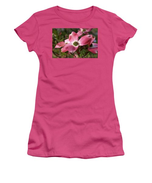 Women's T-Shirt (Athletic Fit) featuring the photograph Magnificent Dogwood Flower by Michele Myers