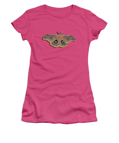Male Moth Orange And Brown .png Women's T-Shirt (Athletic Fit)