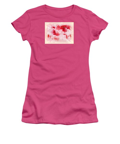 Women's T-Shirt (Junior Cut) featuring the digital art Merry Christmas And A Blessed New by Sherri Of Palm Springs