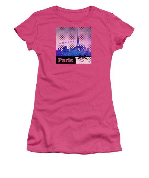 Mindy Jo's Paris  Women's T-Shirt (Junior Cut) by Mindy Bench