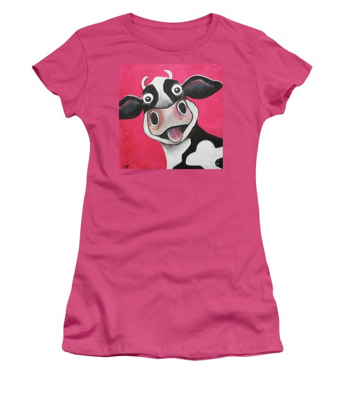 Mrs Cow Women's T-Shirt (Athletic Fit)